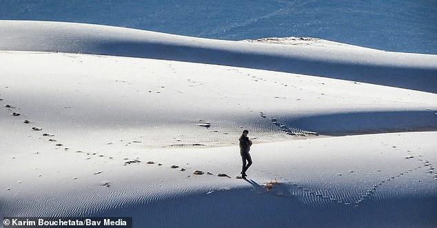 Chuyện khó tin: Tuyết rơi phủ trắng xóa một phần sa mạc Sahara, nhiệt độ chạm mức-2 độ C - Ảnh 2.