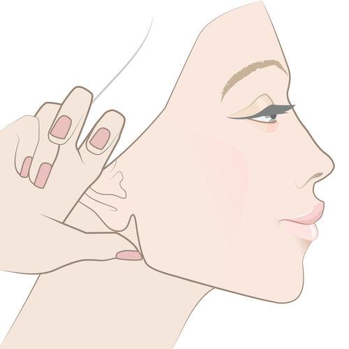 Massage mặt giúp vùng cằm thon gọn