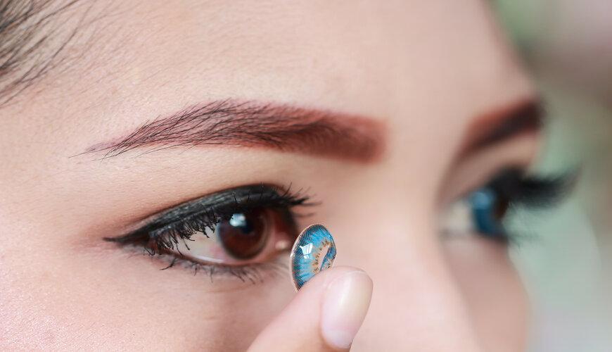 trang điểm mắt đẹp với lens
