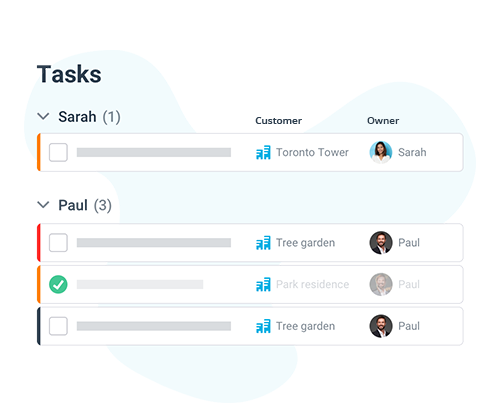 email status and task visualization