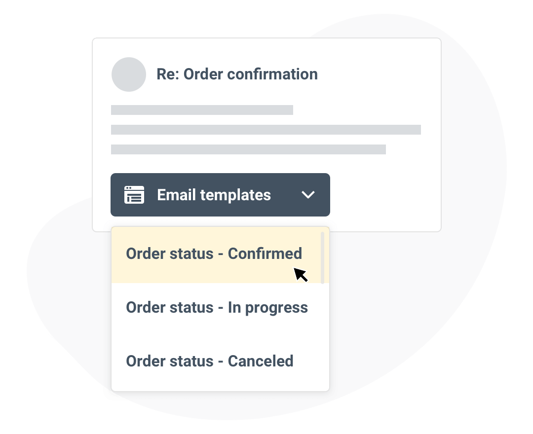Email templates for fast customer service