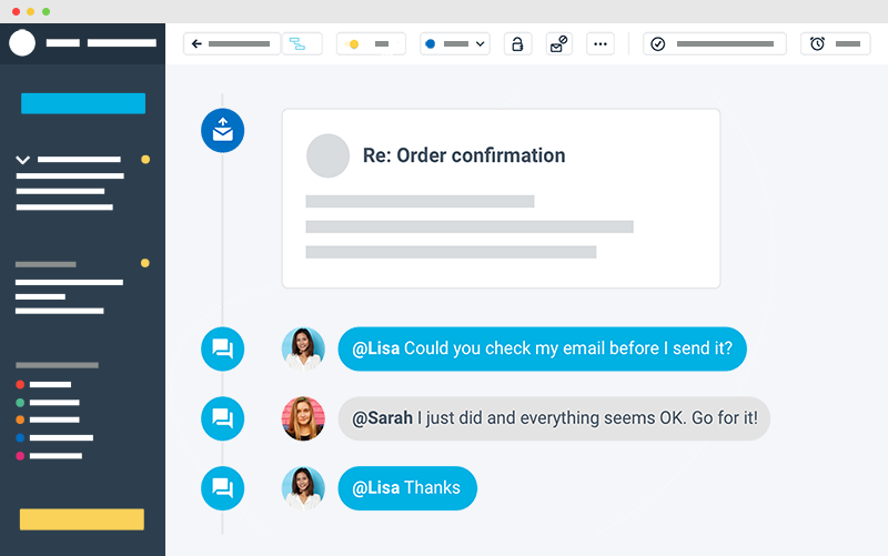 collaboration on an email