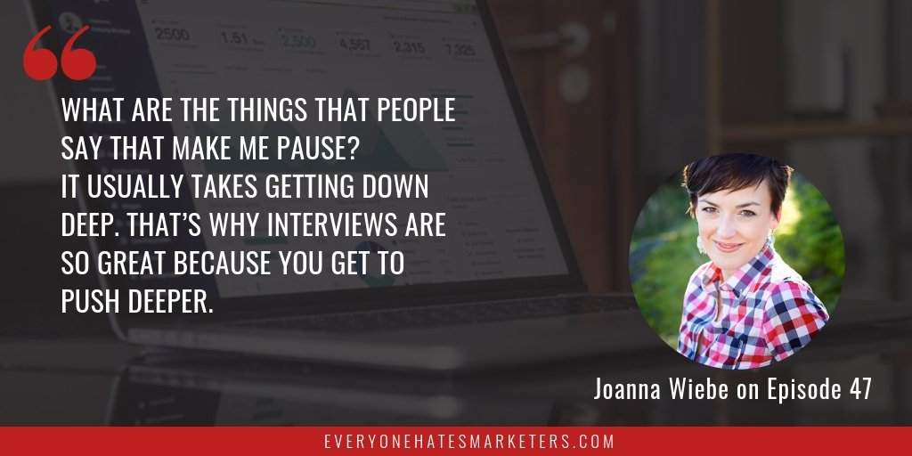 How to Write Better Copy: Joanna Wiebe on Interviews