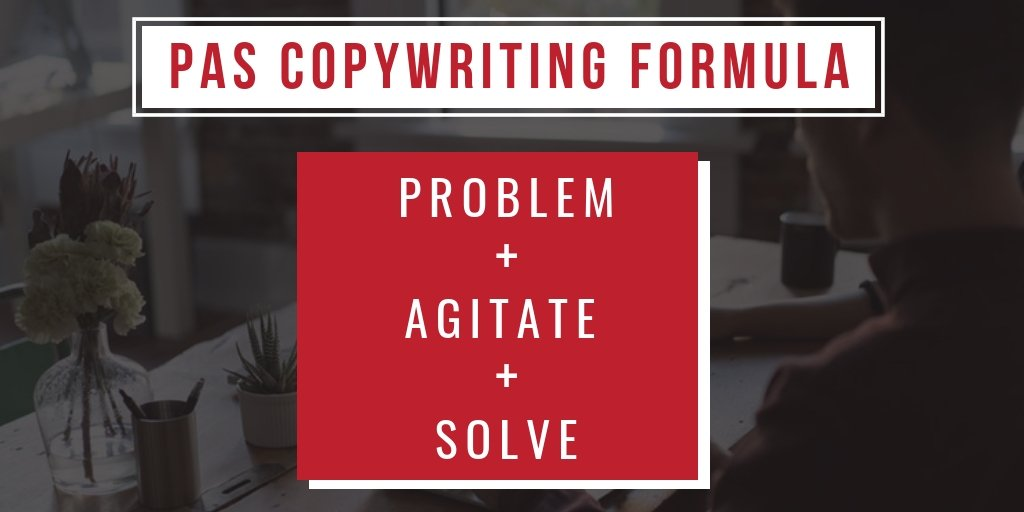 How to write better copy - Problem Agitate Solve Formula