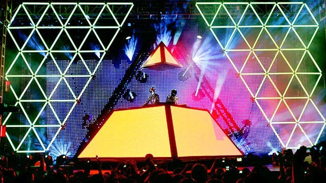 Daft Punk's marketing takes new heights with their famous surprise pyramid