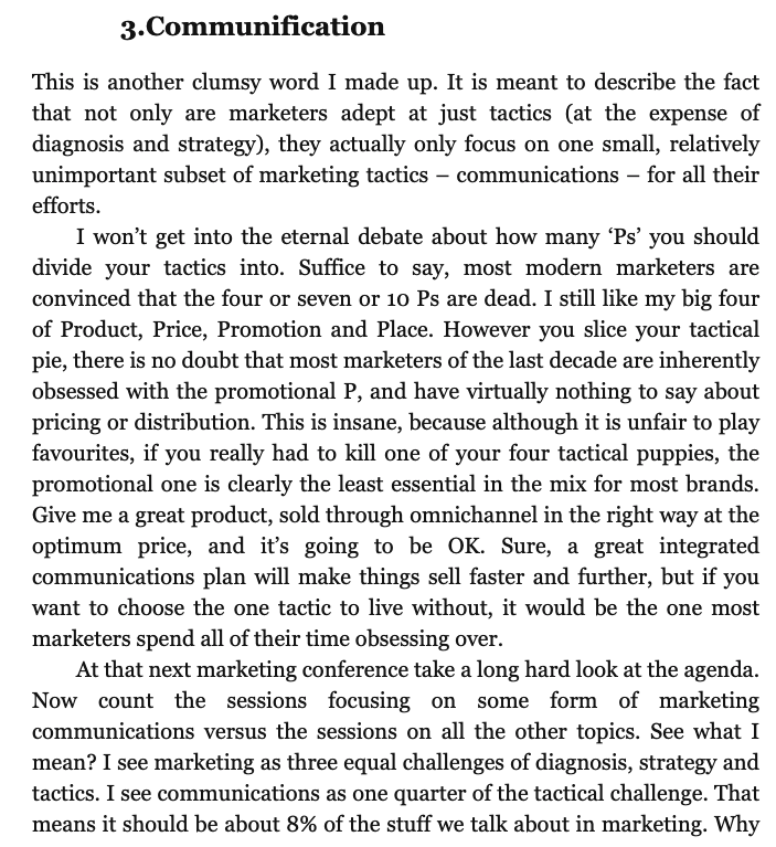 Communification is a term that describes the difference between marketing and communications