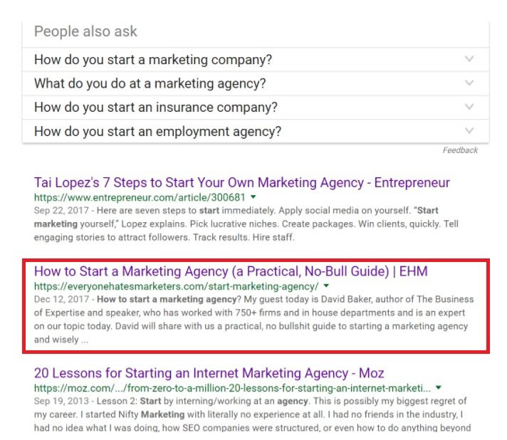 Content marketing is a good way to acquire clients for your marketing agency