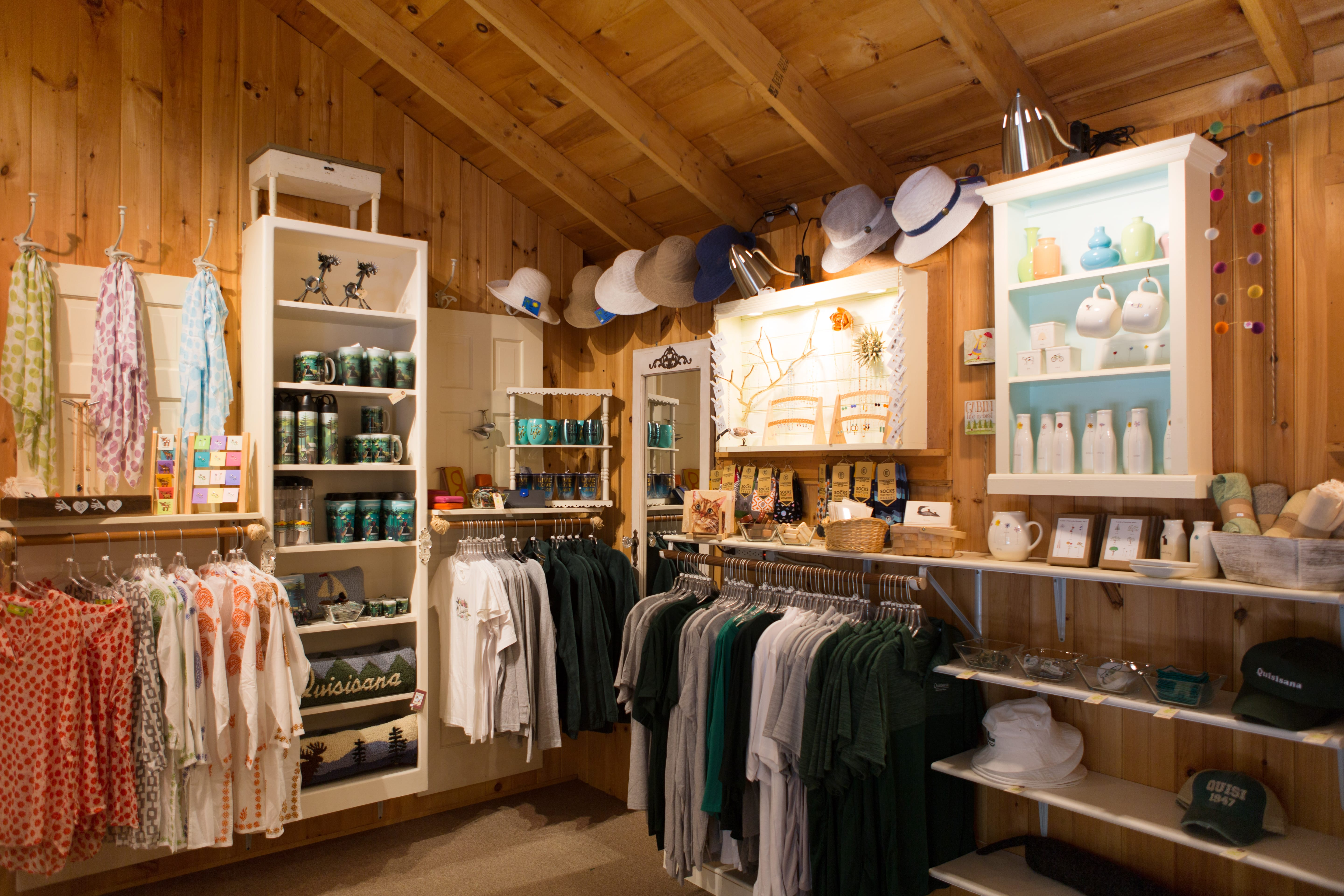 Inside view of the gift shop