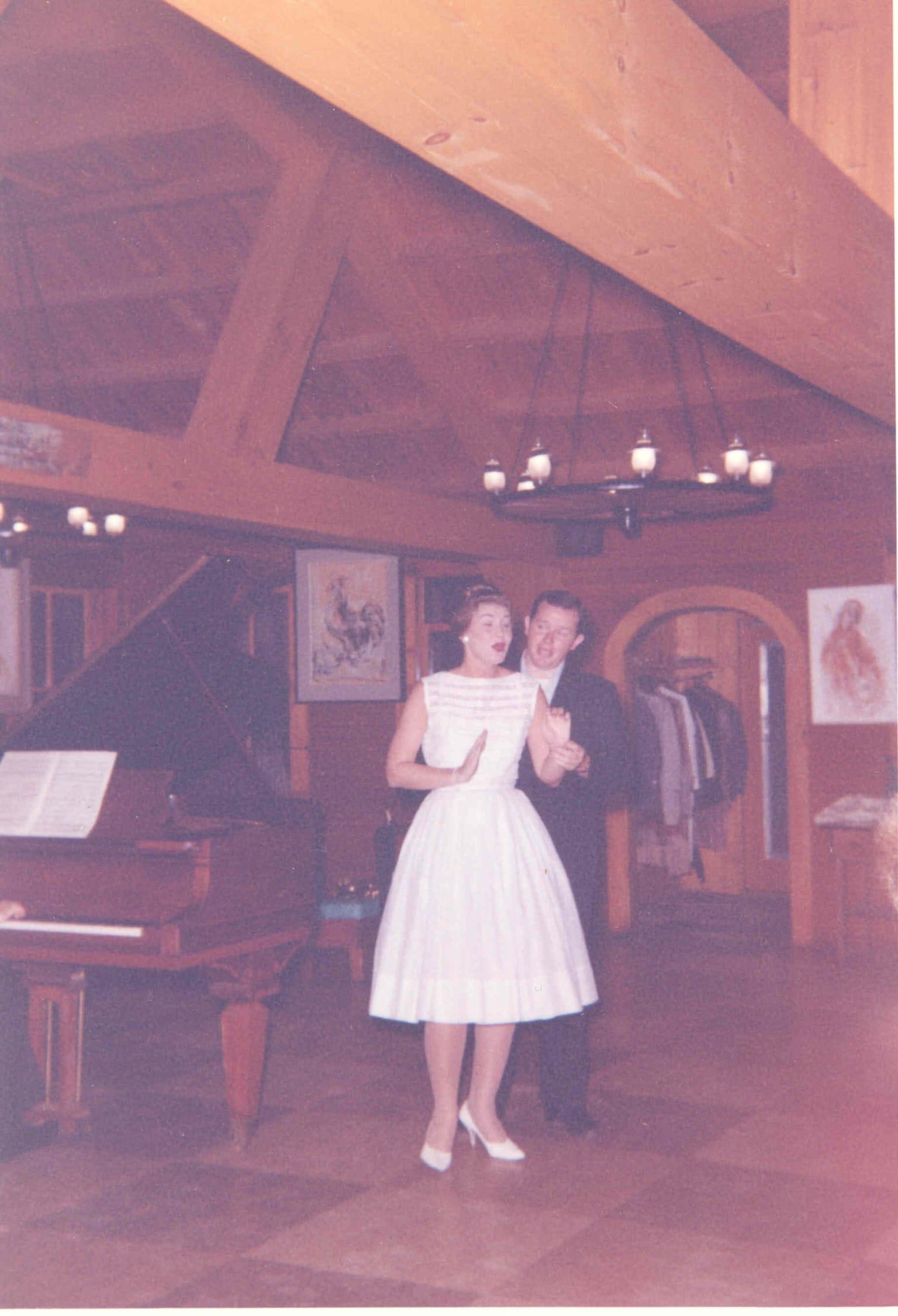 Vintage photo of Quisisana Resort and people dancing