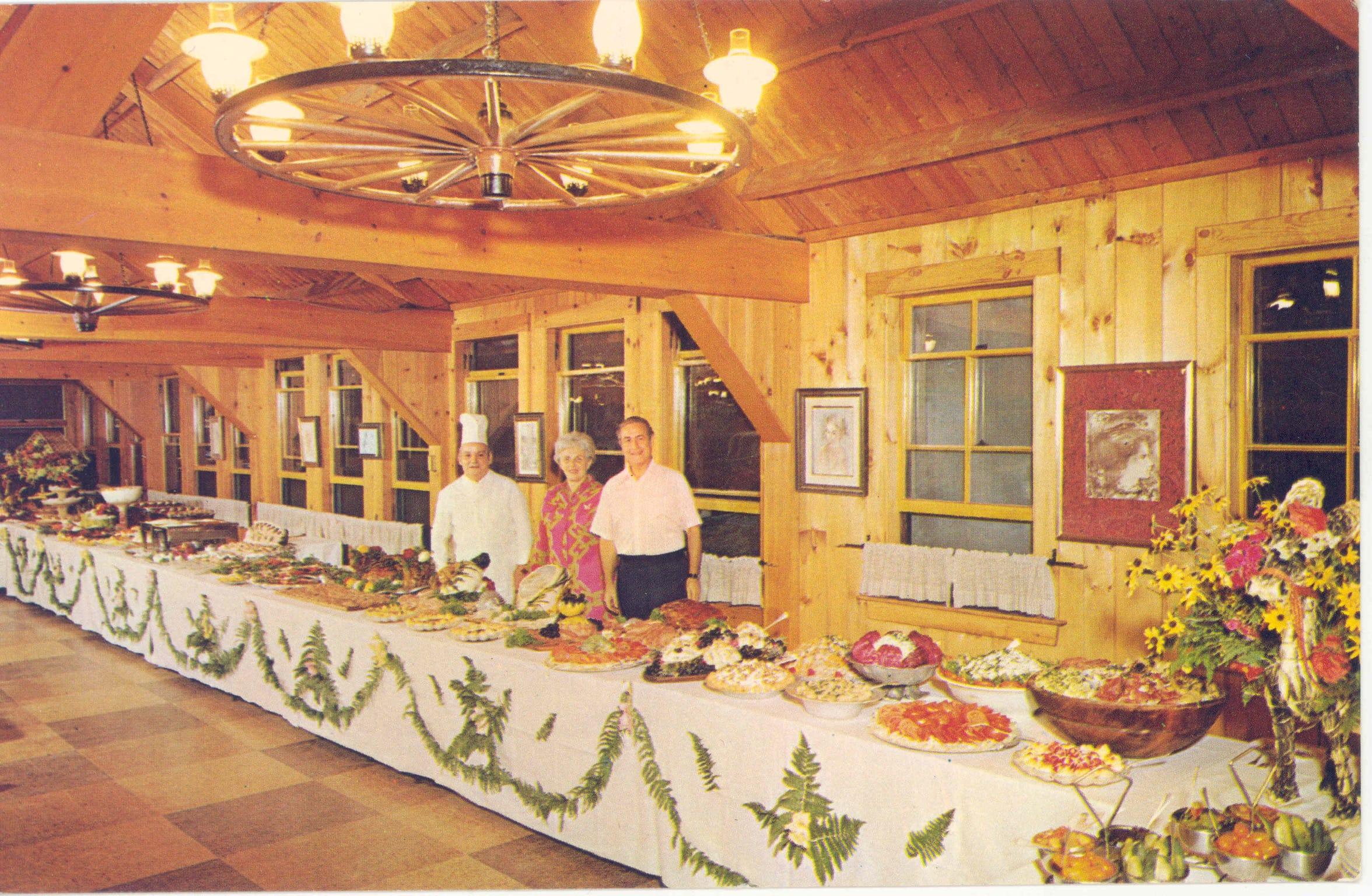 Vintage photo of Quisisana Resort dining
