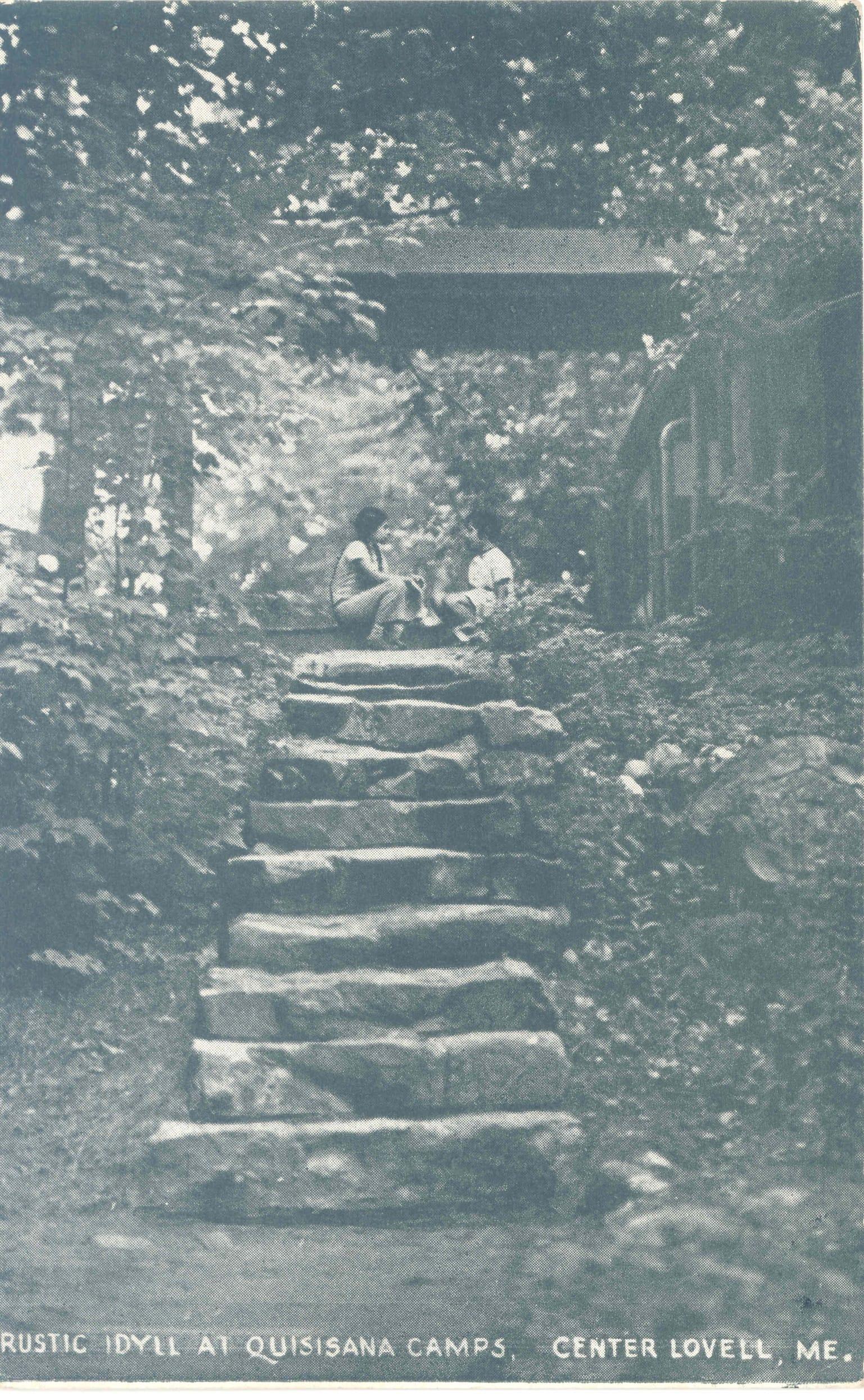 Vintage photo of Quisisana Resort stone steps
