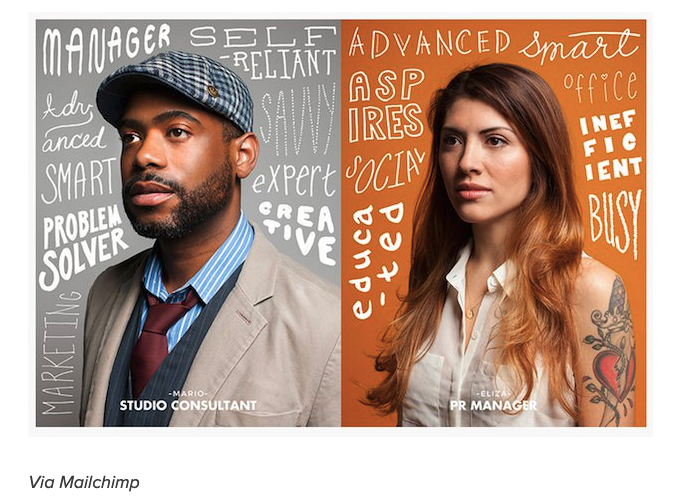 This is an image of a consultant and a pr manager from Mailchimp.