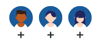New employee character icons