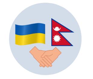 Nepal and Ukraine flags
