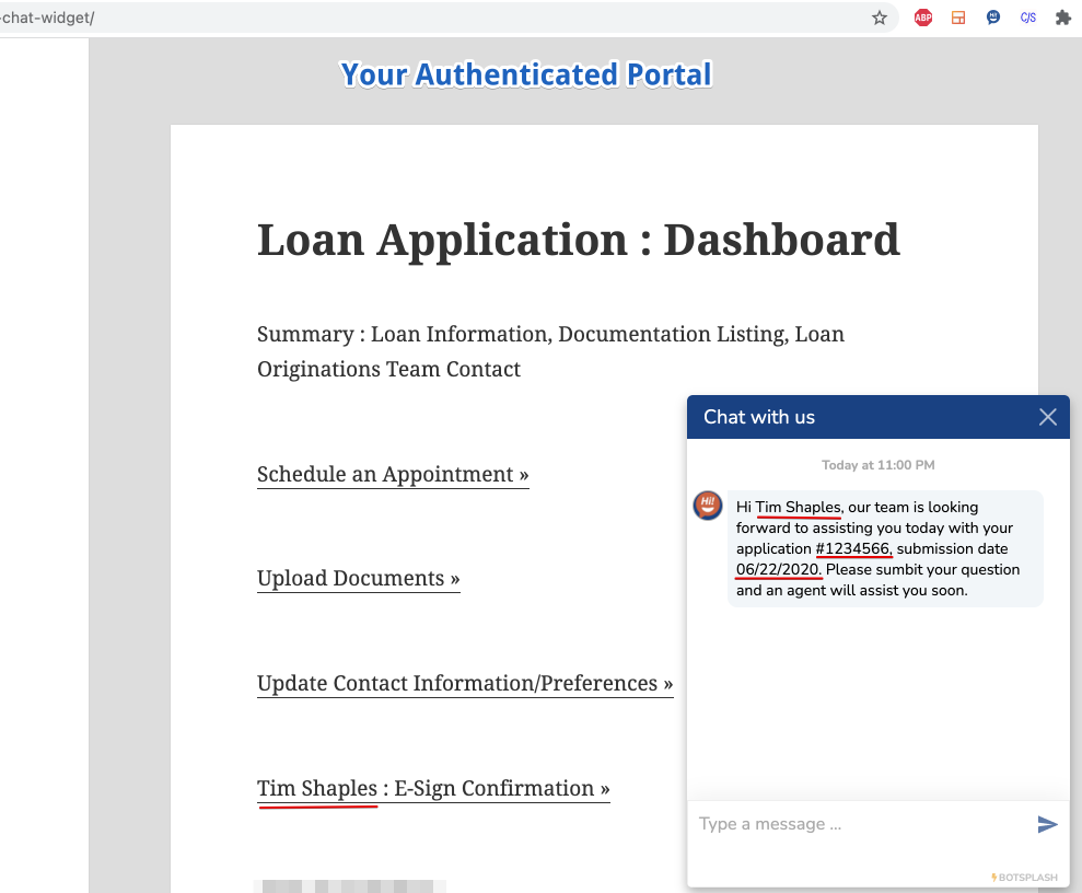 Authenticated Portal Example
