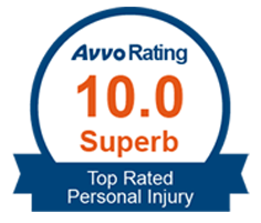 Avvo 10.0 superb rating personal injury