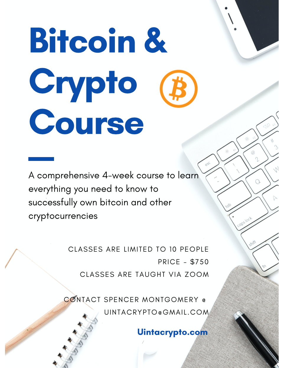 Cryptocurrency Course details