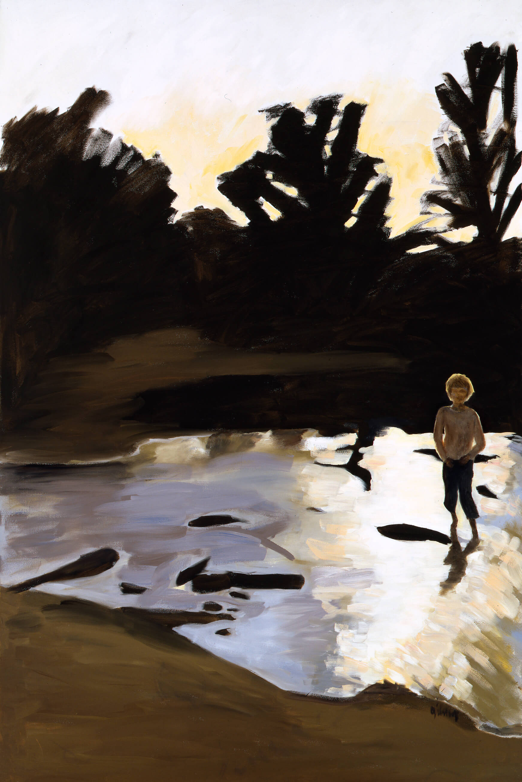 River oil on canvas 72 x 48 inches