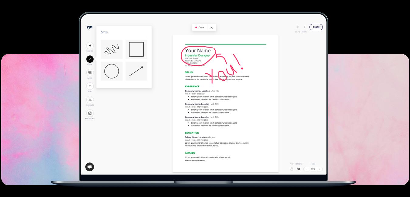 Draw On PDF