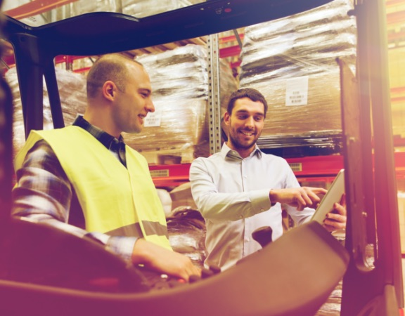 Delivering service in logistics industry