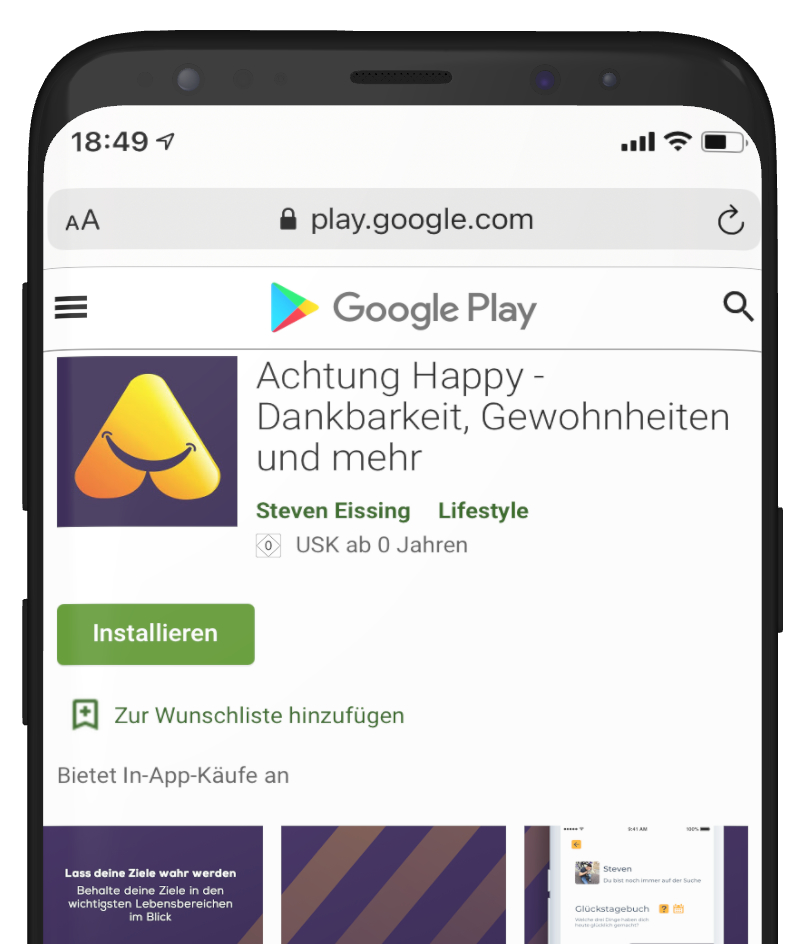Google Play Store Achtung Happy