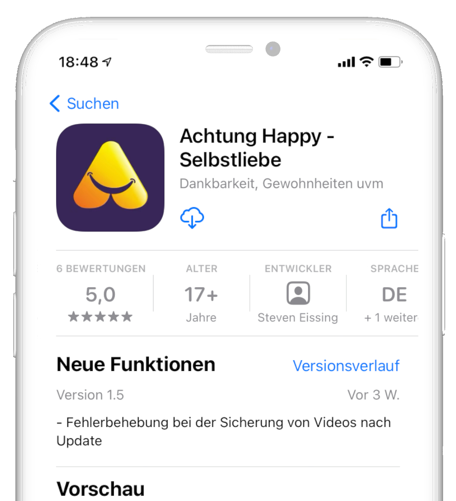 Apple App Store Achtung Happy