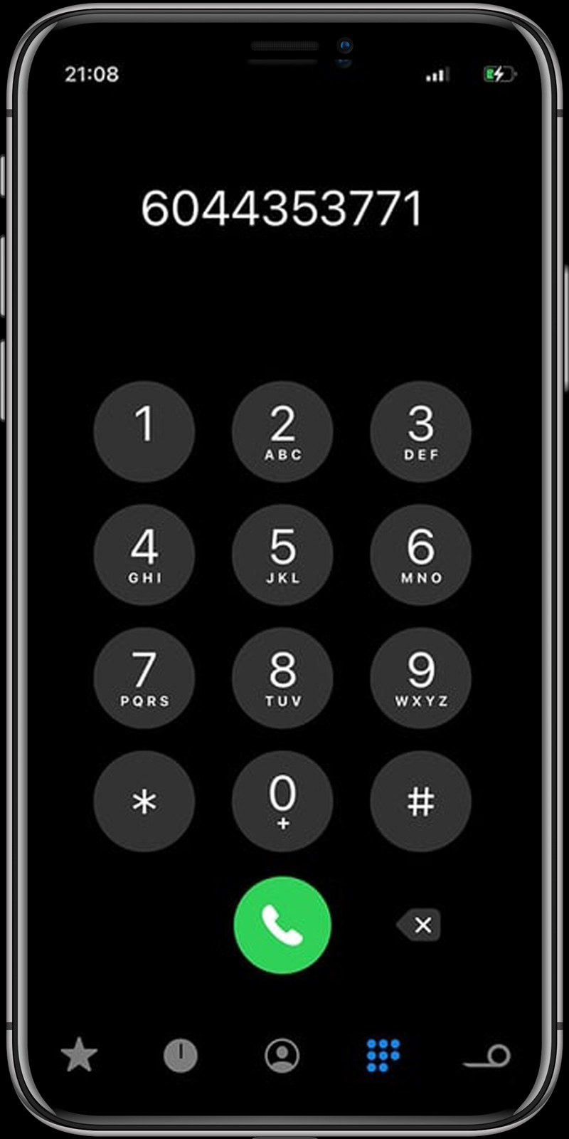 phone with contact number
