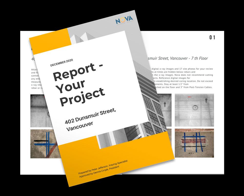 concrete xray report
