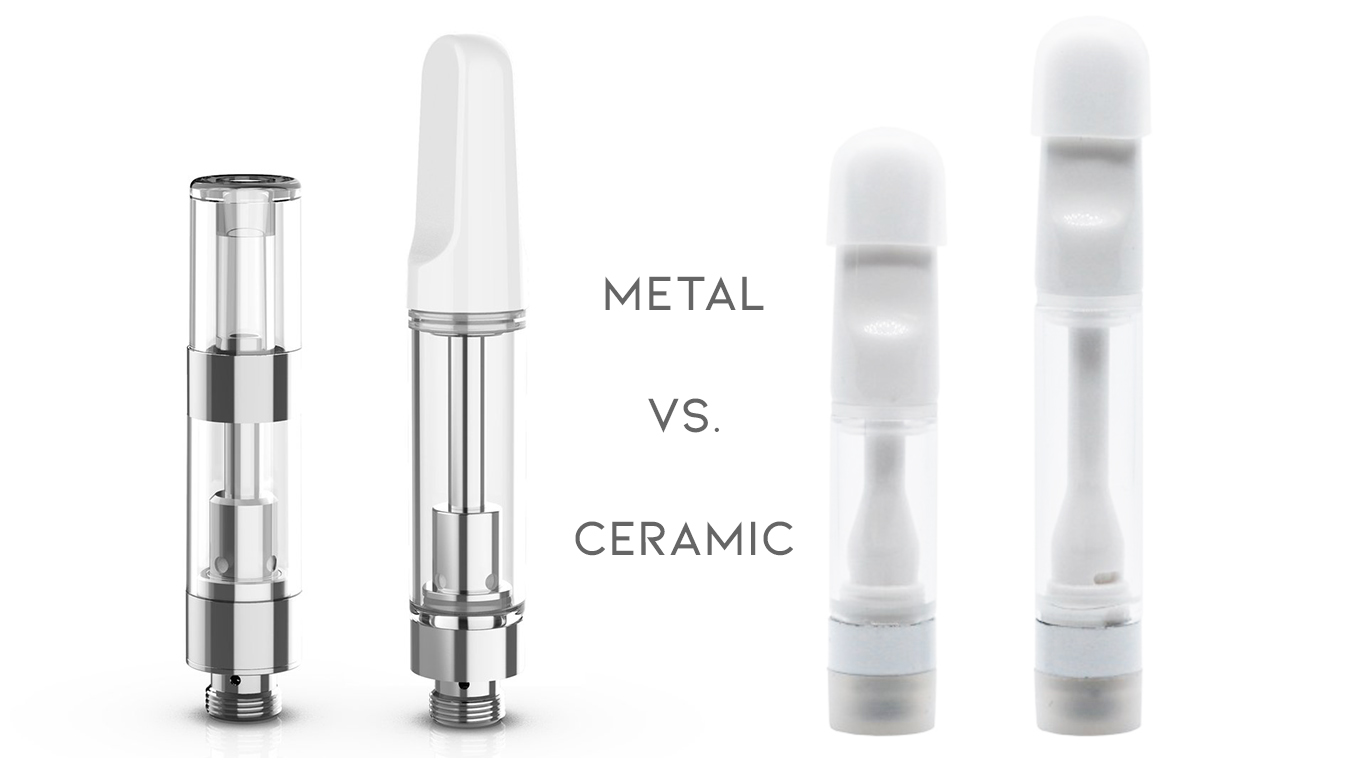 Like anything in weed, there's always a product that's considered more 'top-shelf' or premium than the rest. With vape carts, it's no different. Not only can the quality of the contents differ from brand to brand, but now even the construction of the cart matters, too. So, why are dental-grade ceramic carts rising above the rest in popularity and functionality? Here we'll break down all the key differences you need to know on ceramic vs. metal carts.