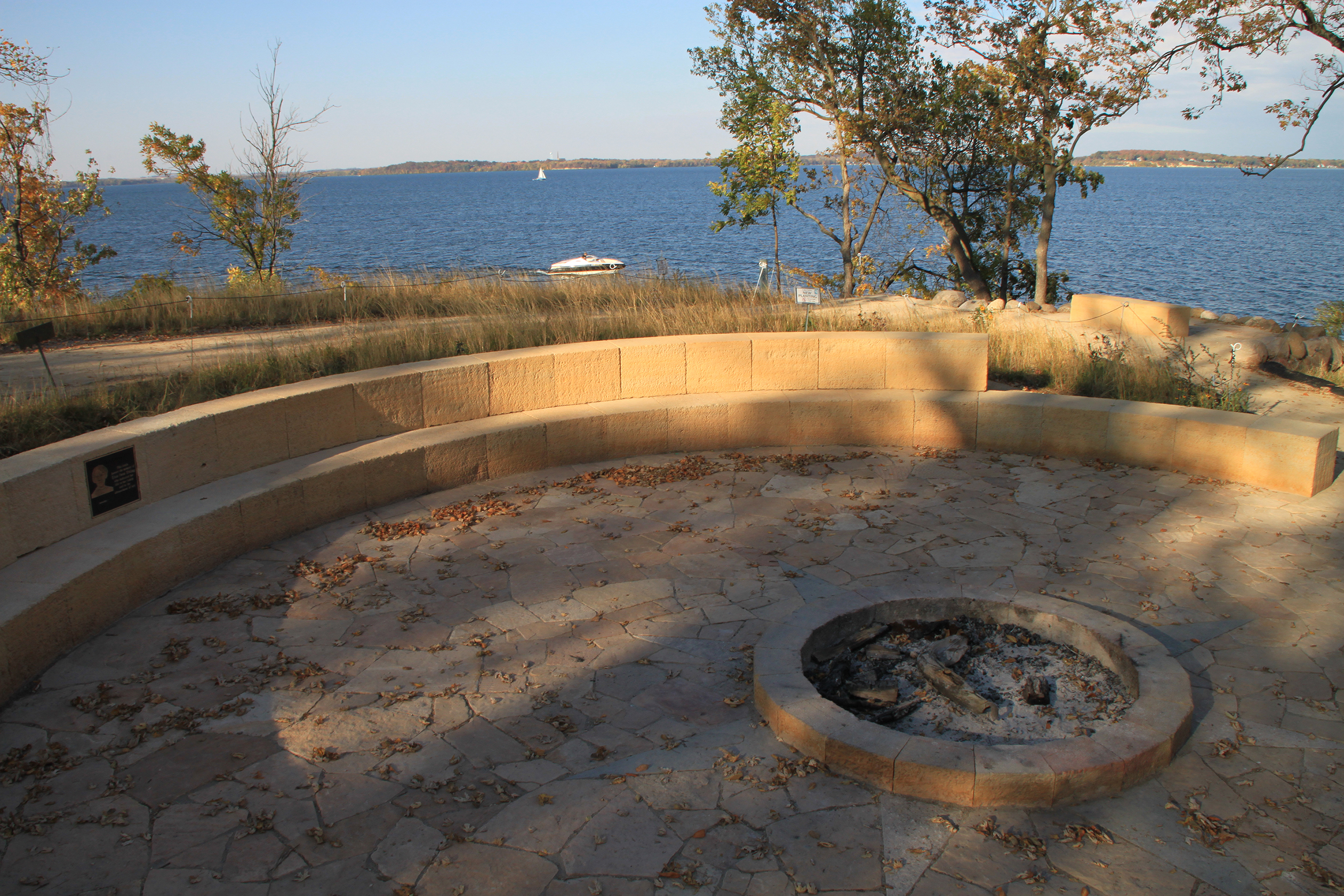 A natural stone council ring serves as the central gathering space; a place for storytelling and campfires and continuing conversations influenced by the University's environmental ethic.