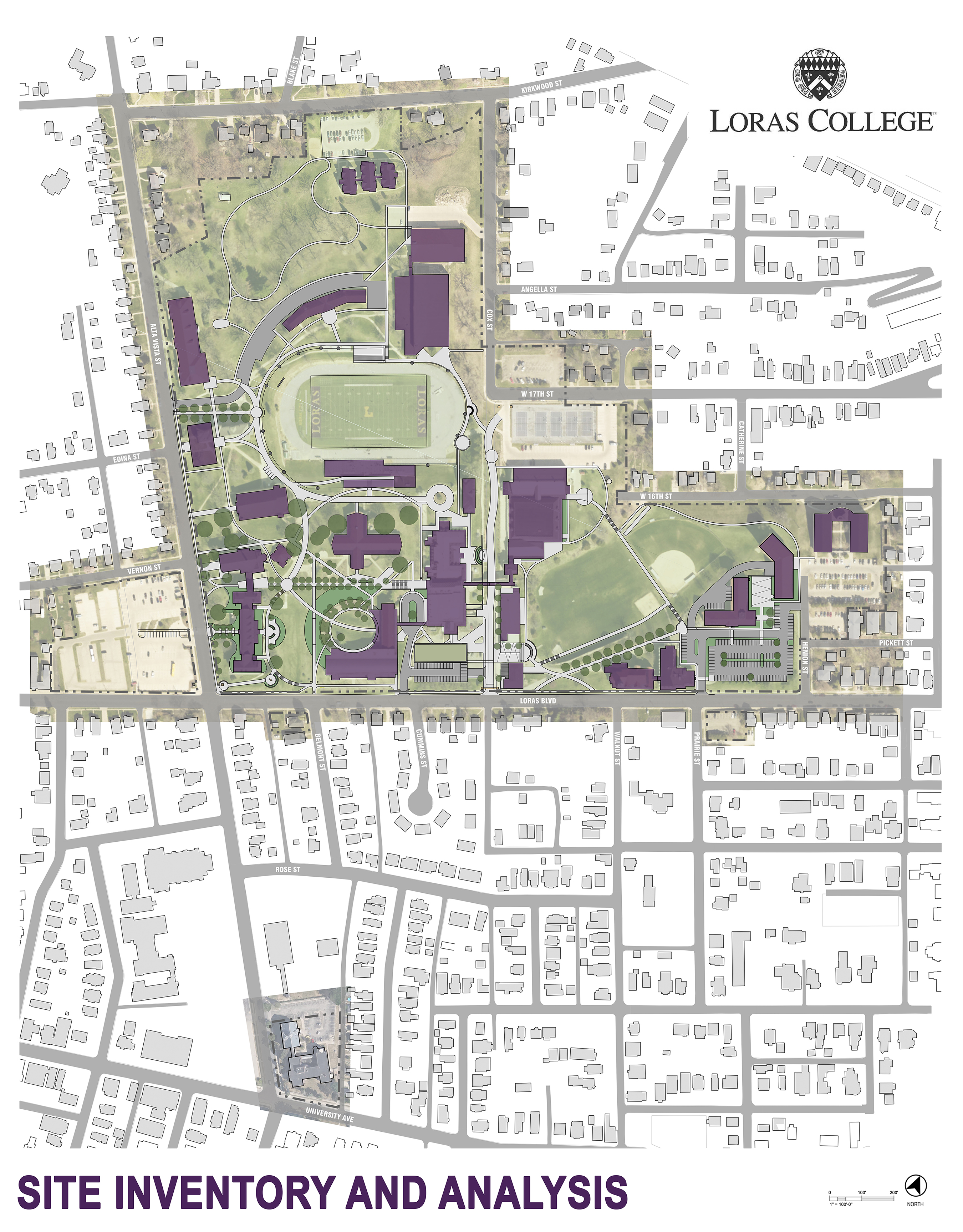 Saiki Design led a rigorous process of inventory and analysis, facilitating focus groups with students, faculty, staff and the steering committee. The result was a well-rounded master plan that included immediate priorities and future-focused solutions.