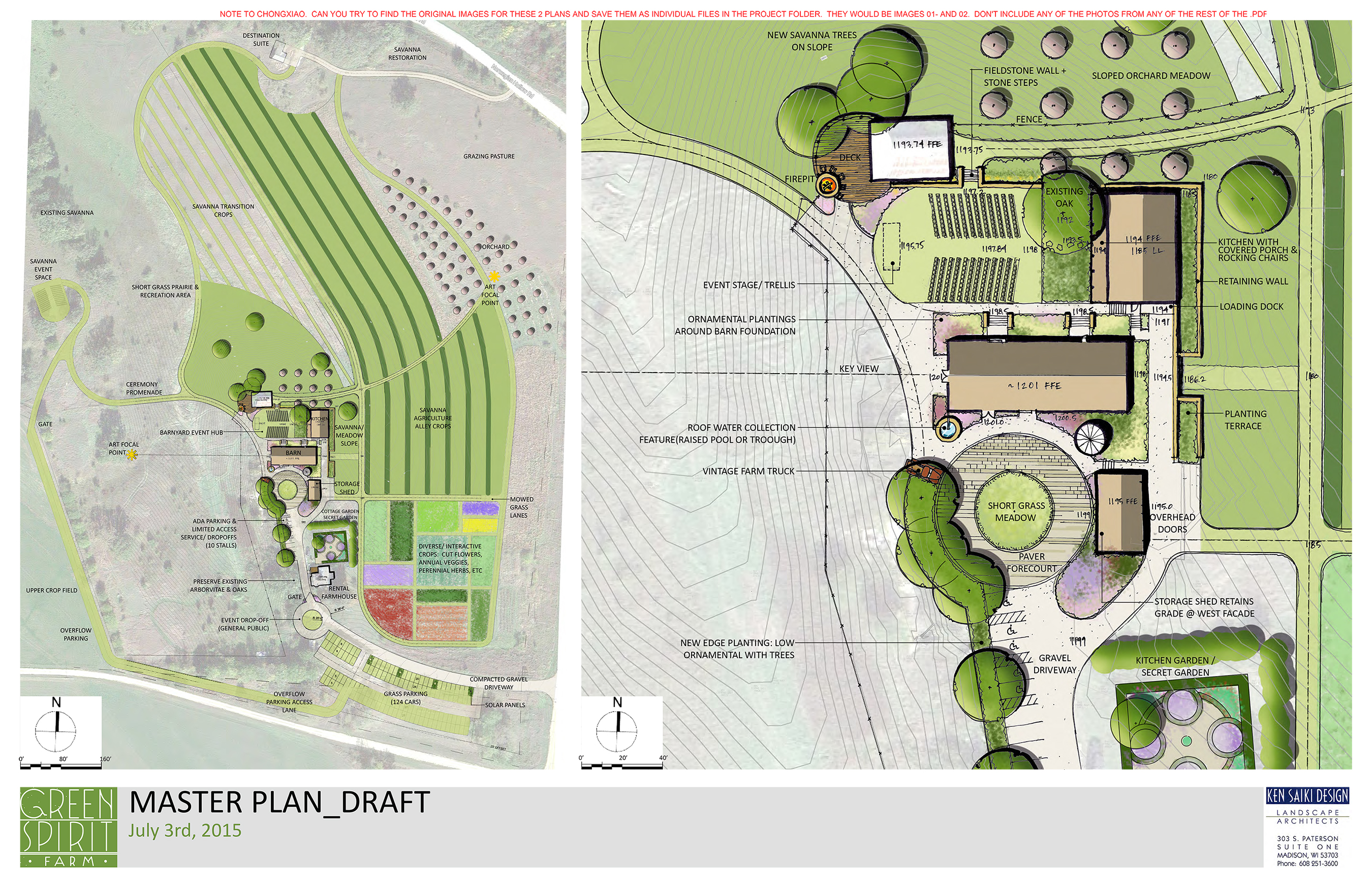 What began as a master planning process to evolve a cluster of neglected agrarian buildings nestled amongst rolling hills in the Driftless region into an event destination expanded into concept plans for individual spaces and private gardens within the property.