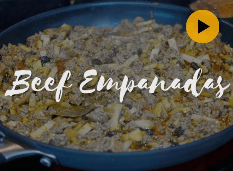 Video of making Beef empanadas