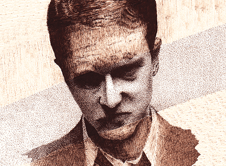 Pen and Ink drawing of Edward Norton