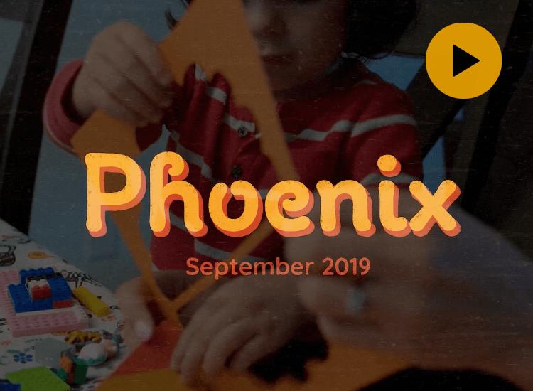 Video of Phoenix making puppets