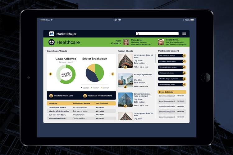 Market Maker iPad Home Screen