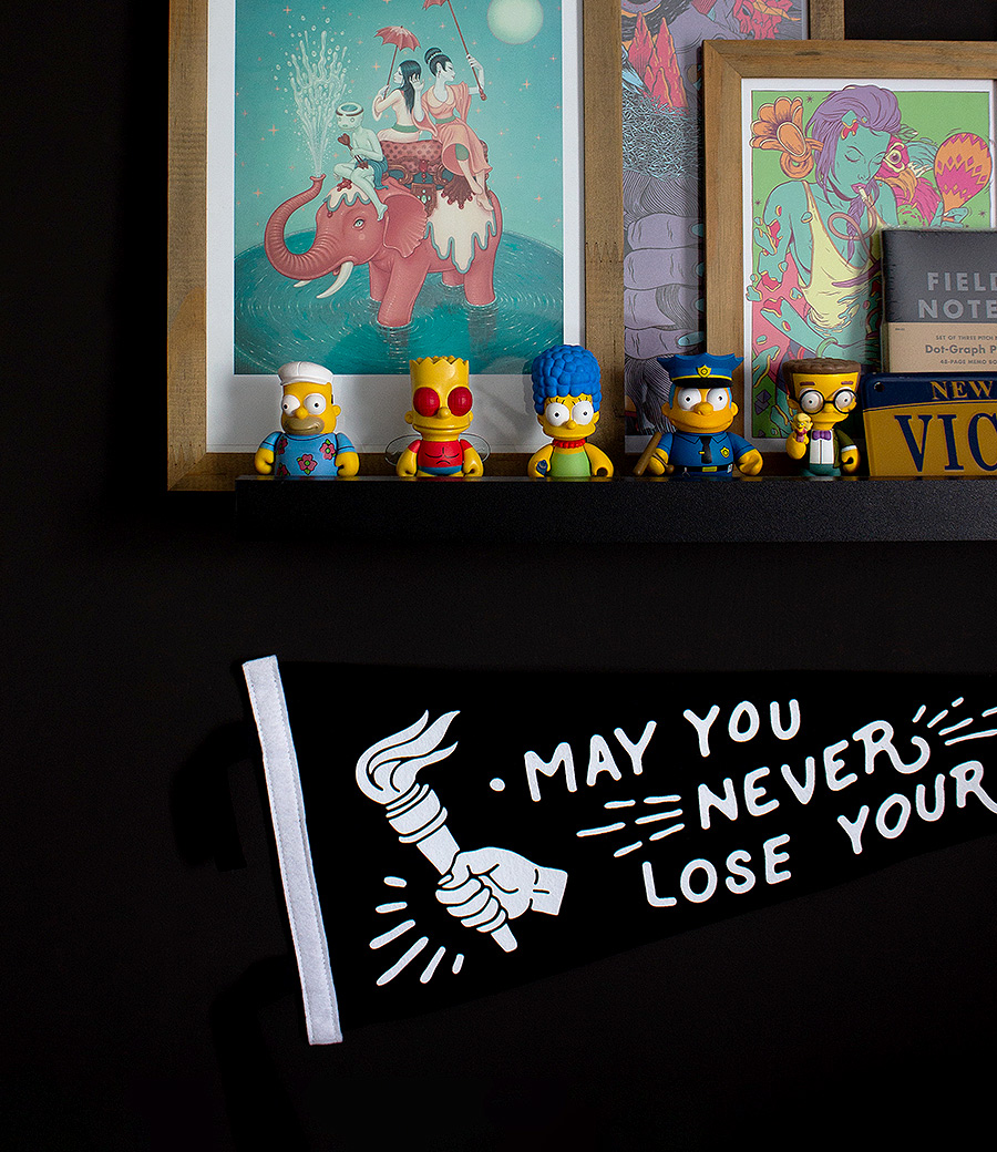 My shelve and a pennant