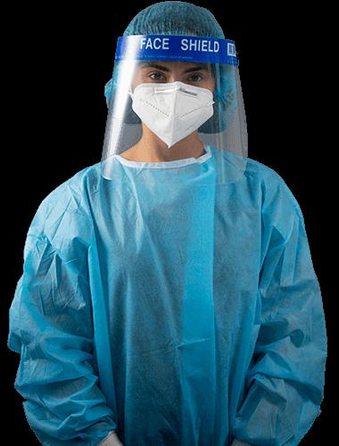 Una enfermera con su equipo de flebotomia