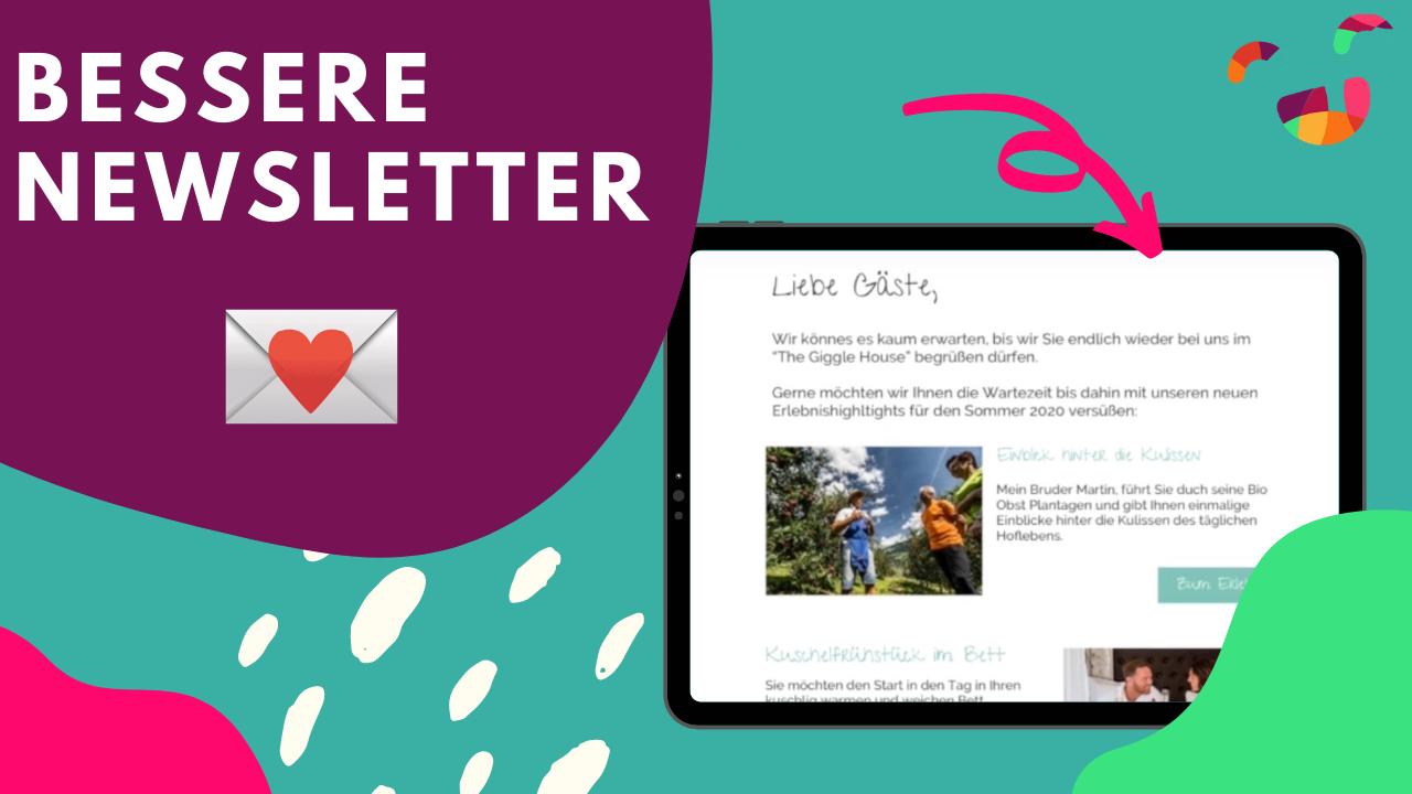 Höhere Buchungsraten durch Newsletter 💌  Verkaufe ERLEBNISSE, keine BETTEN!
