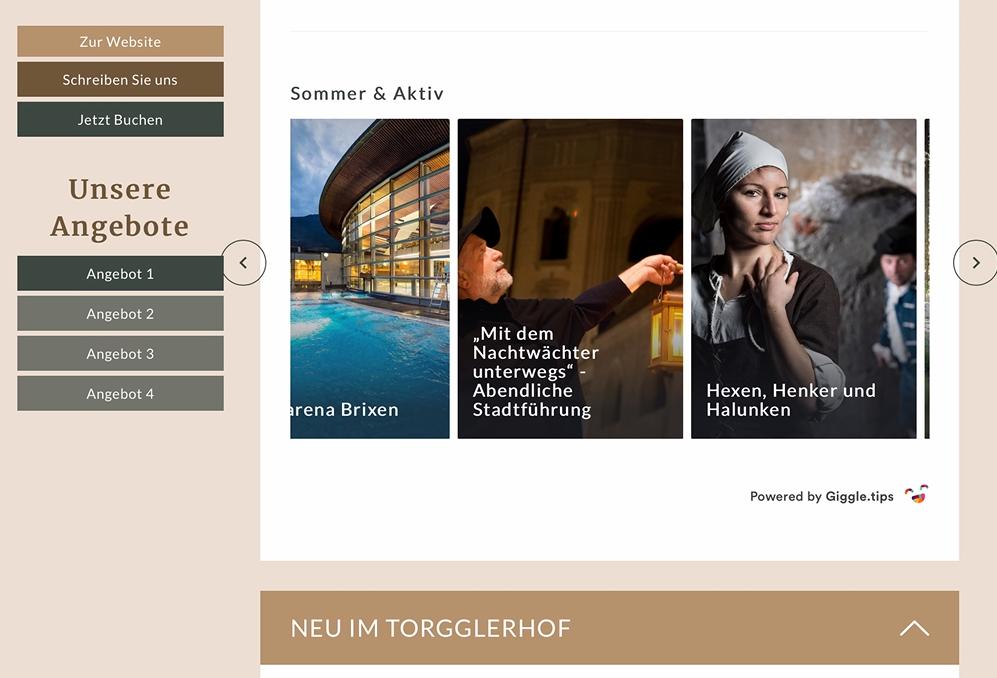 Der Korrespondenz Admin und Giggle.tips - im Handumdrehen integriert!