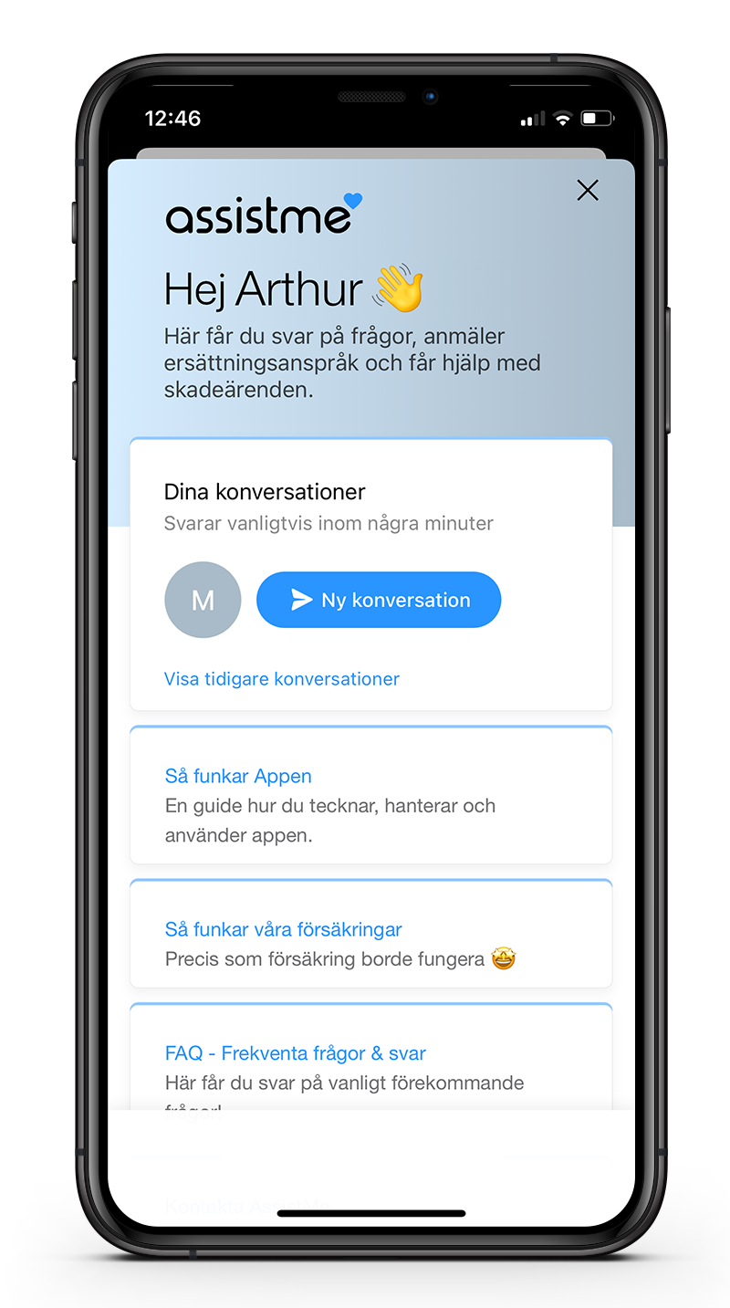 AssistMe App - Chat
