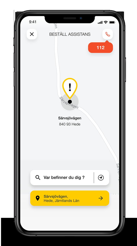 Vägassistansförsäkring i en app