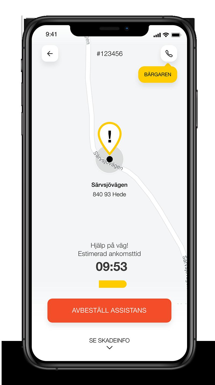 AssistMe app - follow case