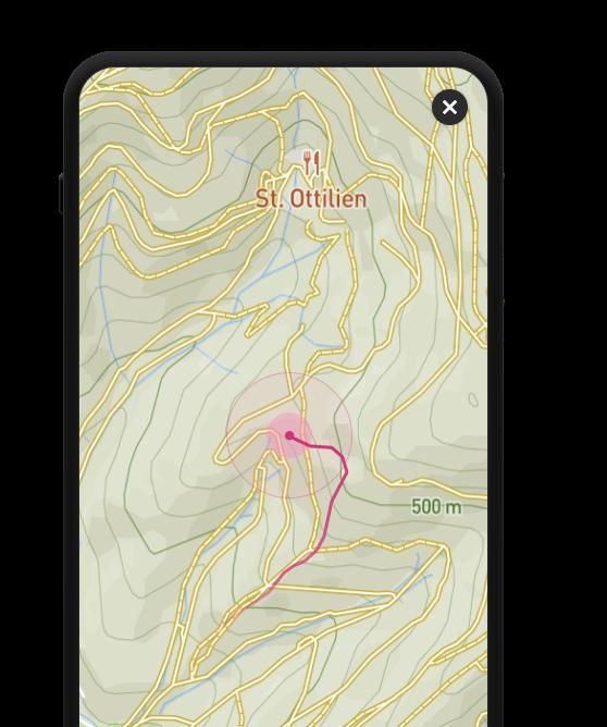 Smartphone mit einer Karte