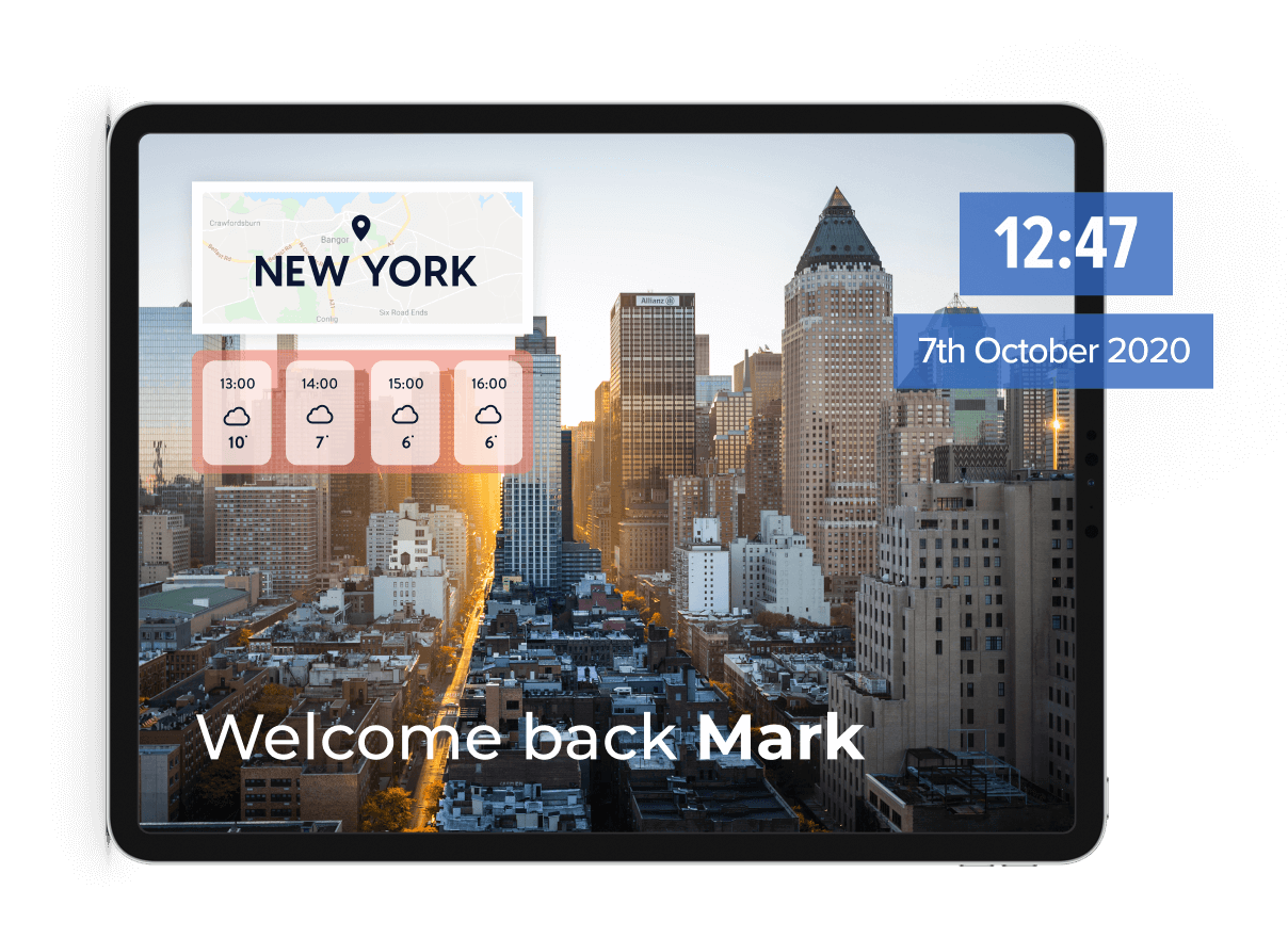 Personalisation shown on a video frame with time and location