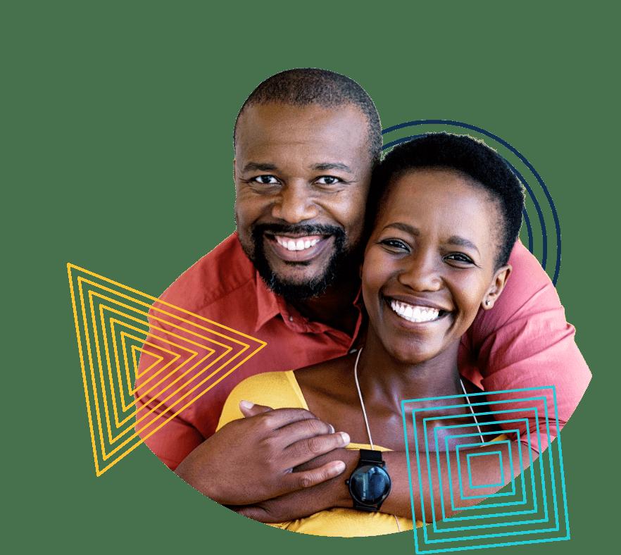 Black smiling couple