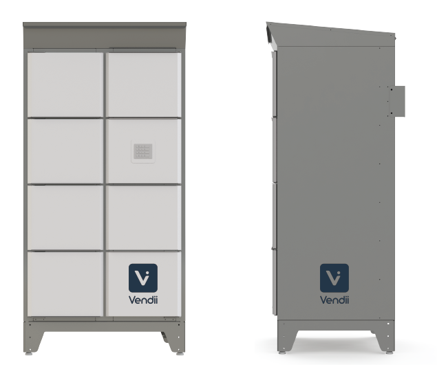 Front and Side view of Vendii Locker