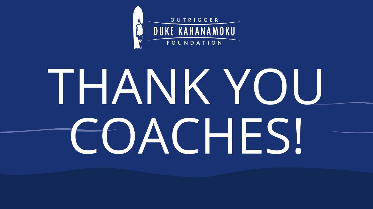 Thank you coaches!