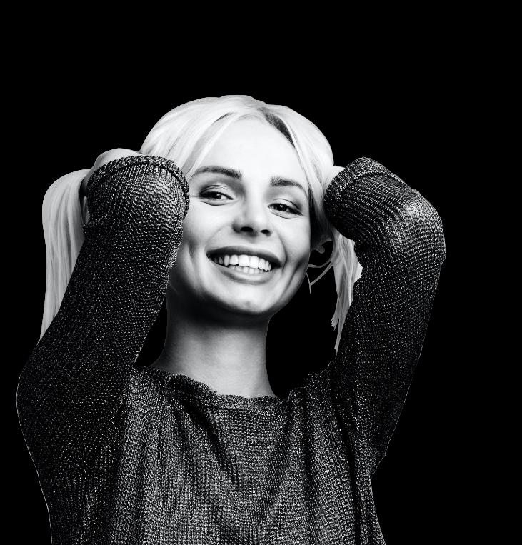Radically Smiling woman