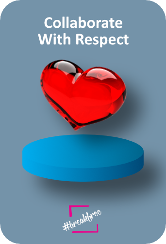 Collaborate With Respect - Declaration of Interdependence graphic